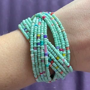 Gorgeous beaded cuff bracelet